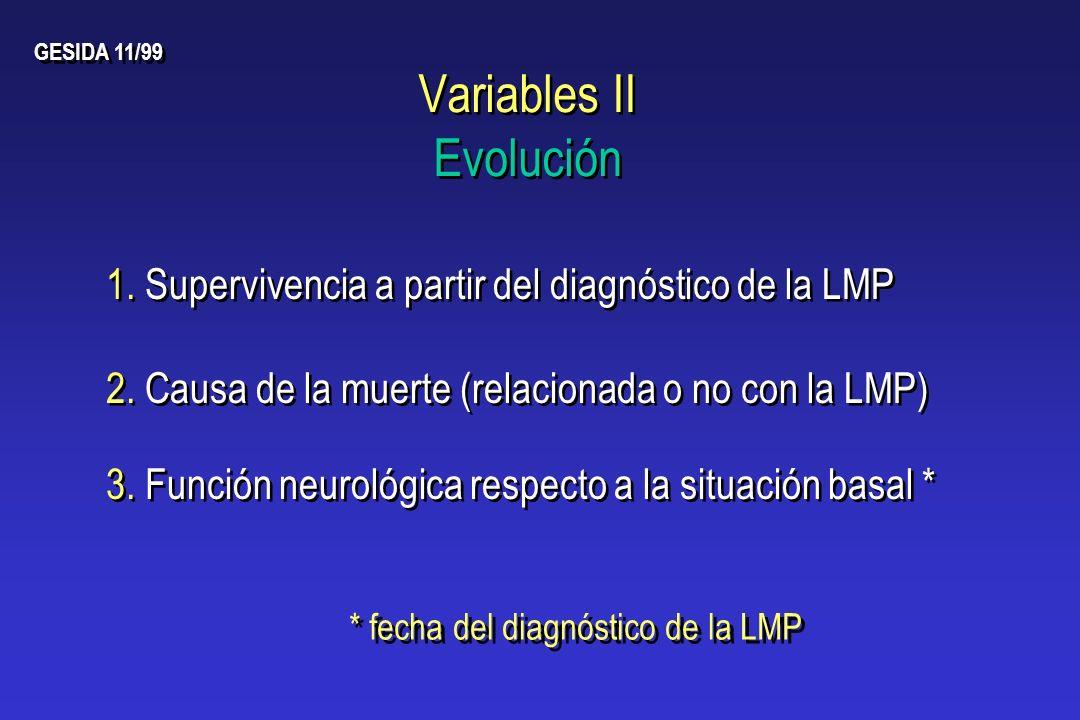 Variables II Evolución