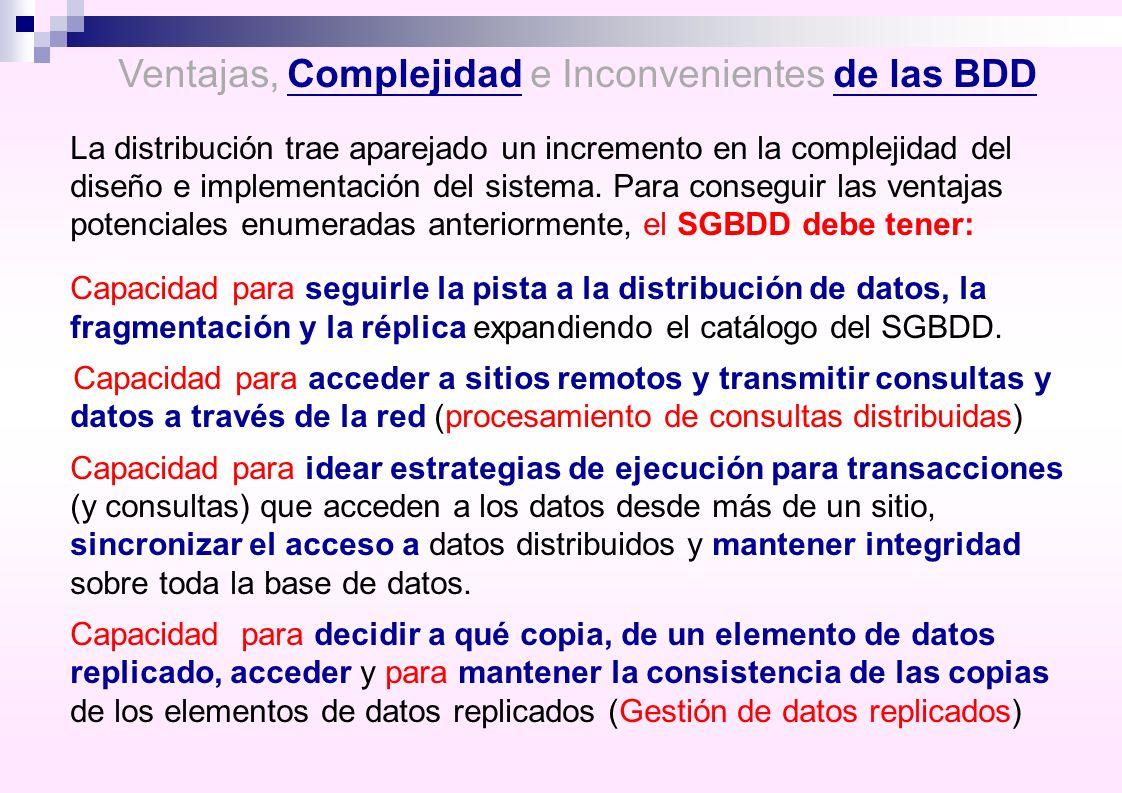 Ventajas, Complejidad e Inconvenientes de las BDD