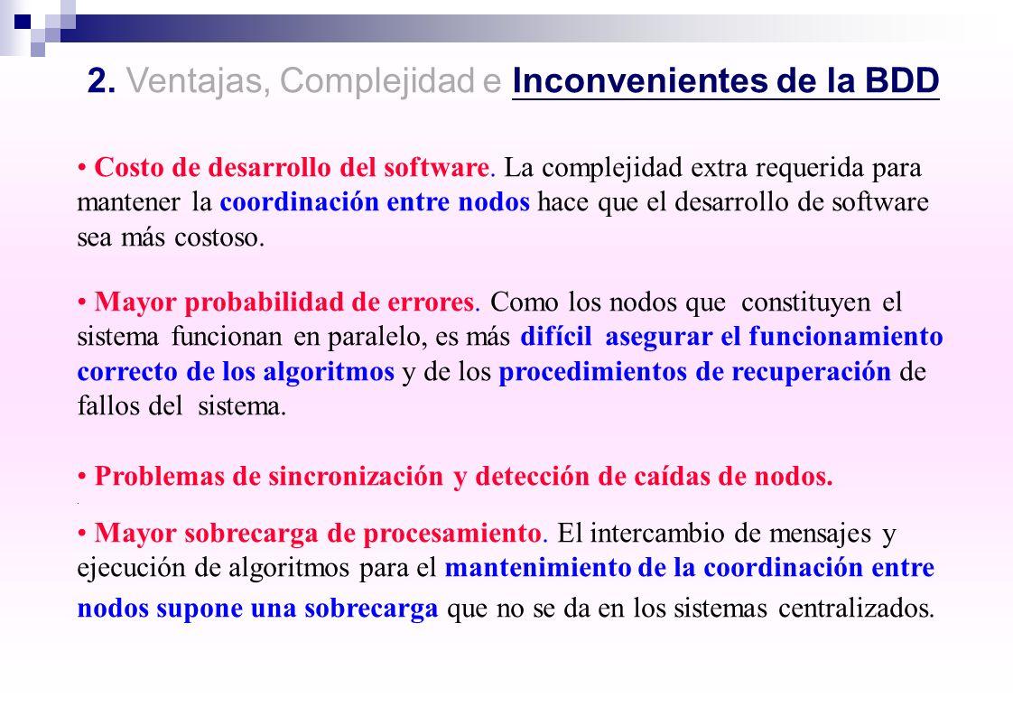 2. Ventajas, Complejidad e Inconvenientes de la BDD