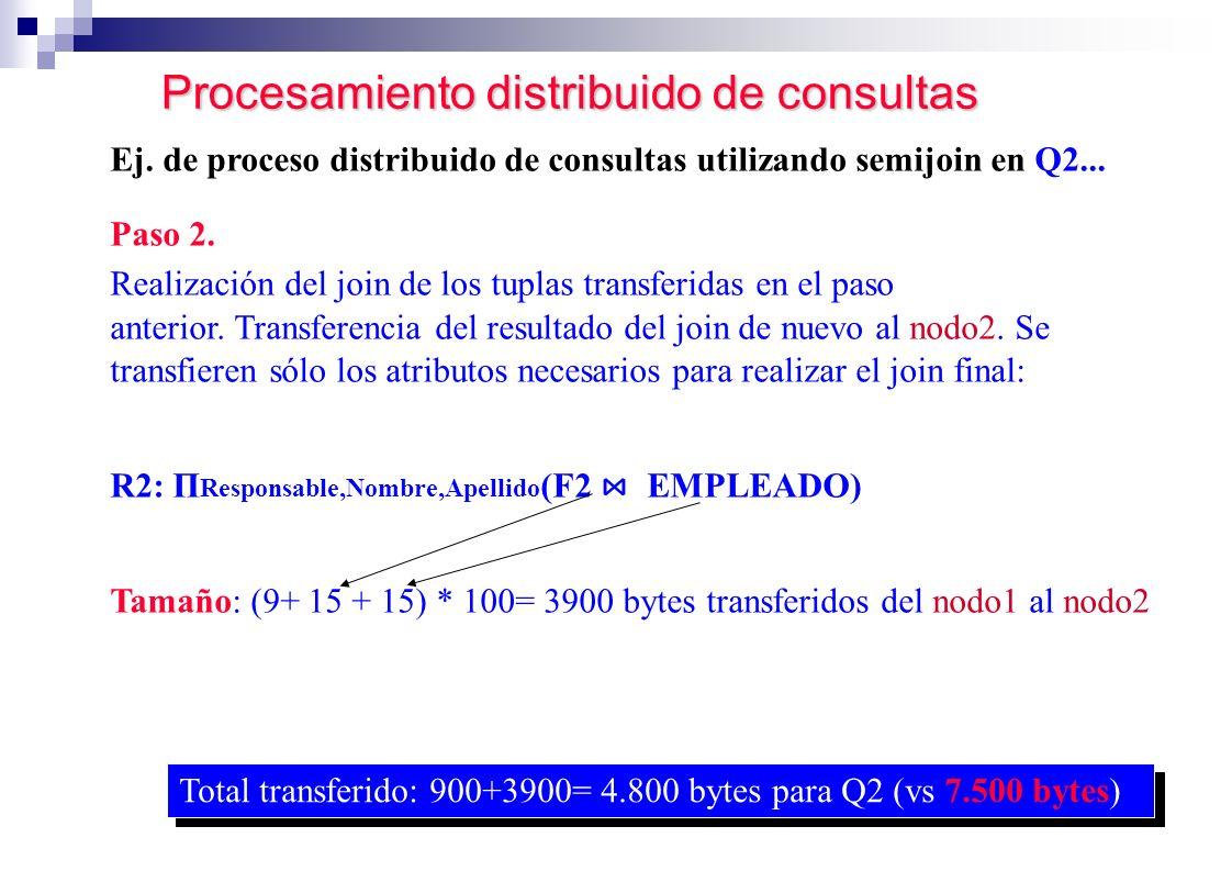 Procesamiento distribuido de consultas