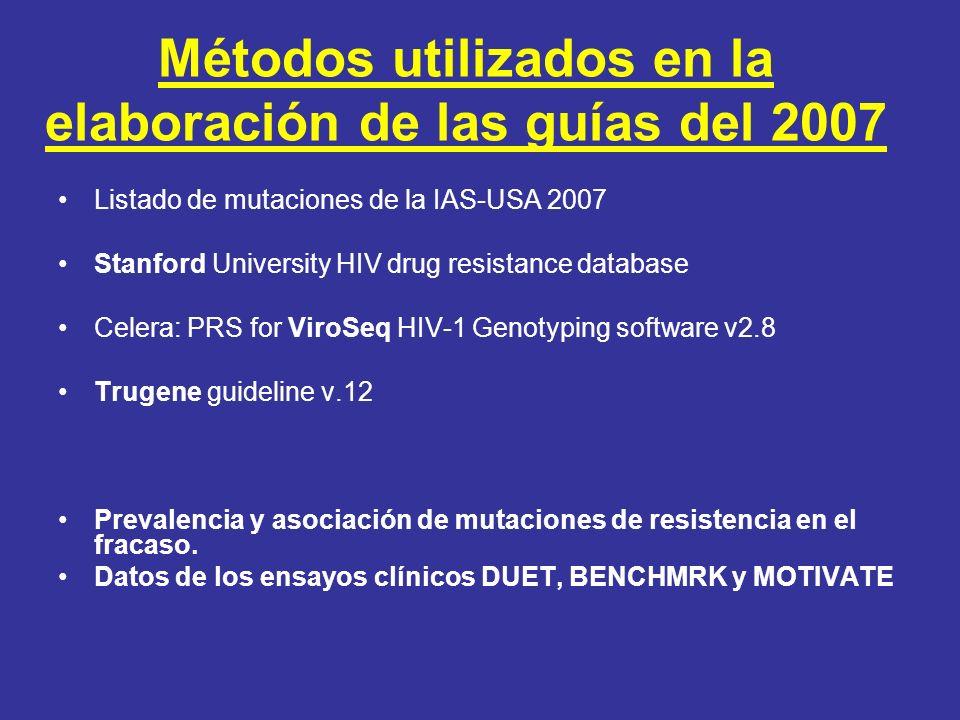 Métodos utilizados en la elaboración de las guías del 2007