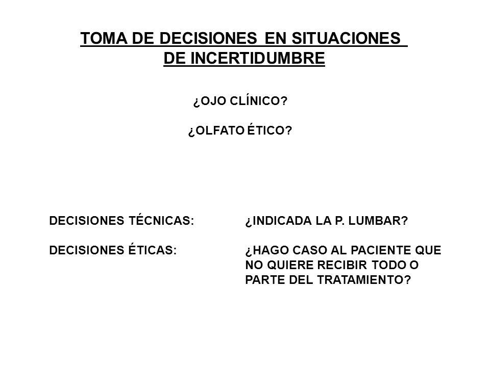 TOMA DE DECISIONES EN SITUACIONES