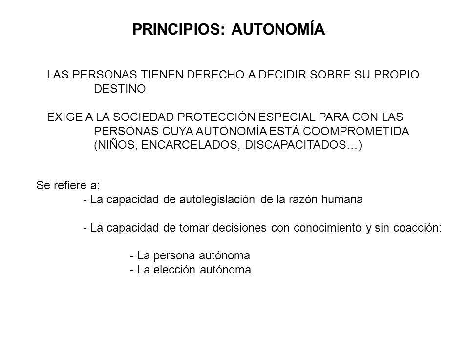 PRINCIPIOS: AUTONOMÍA
