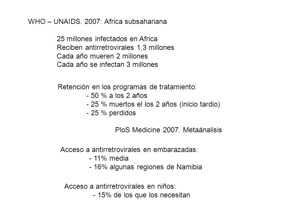WHO – UNAIDS. 2007: Africa subsahariana
