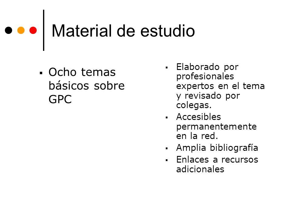 Material de estudio Ocho temas básicos sobre GPC