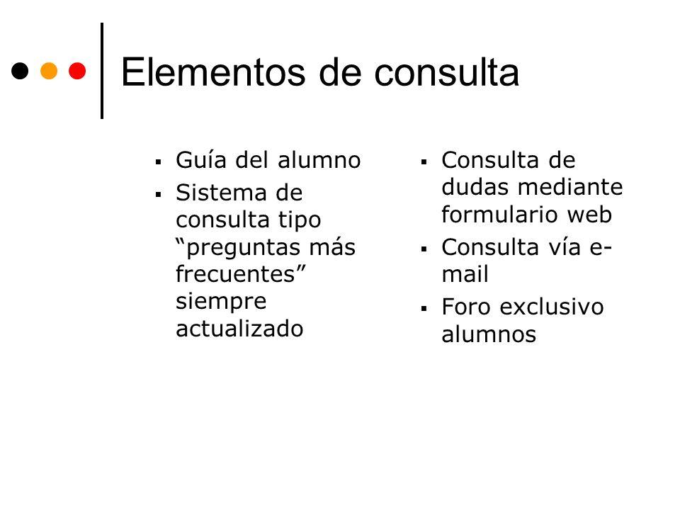 Elementos de consulta Guía del alumno