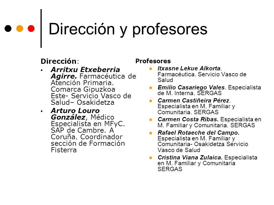 Dirección y profesores