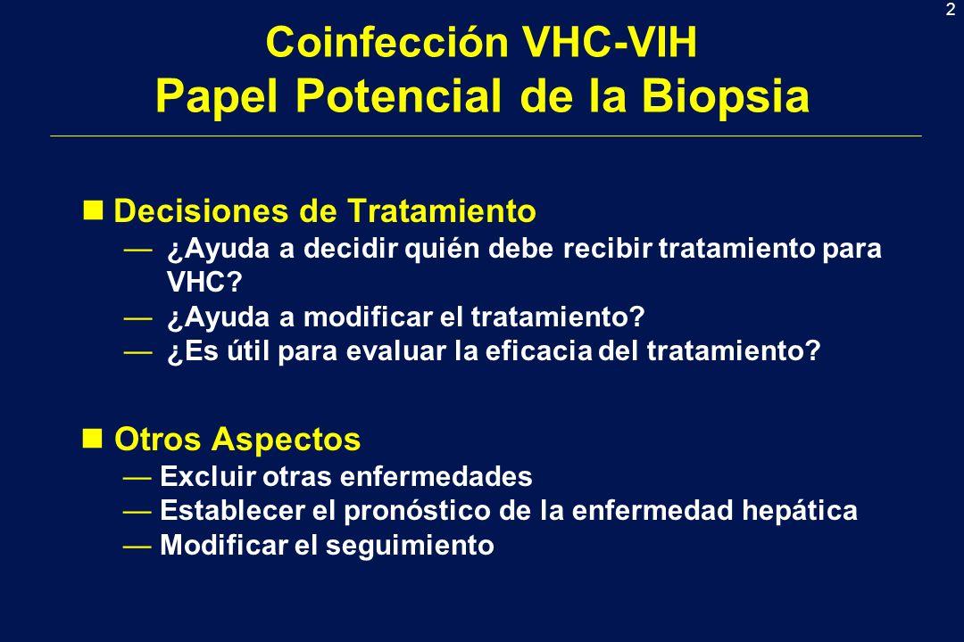 Coinfección VHC-VIH Papel Potencial de la Biopsia