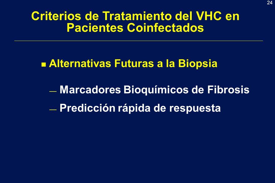 Criterios de Tratamiento del VHC en Pacientes Coinfectados
