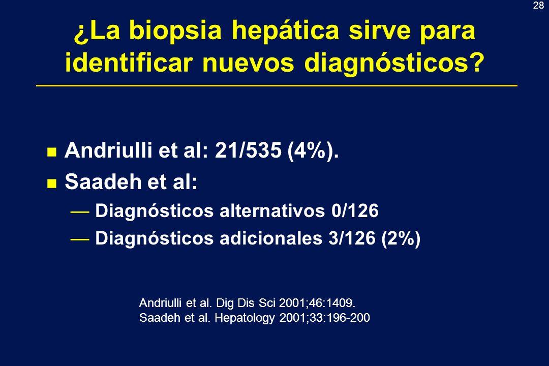 ¿La biopsia hepática sirve para identificar nuevos diagnósticos