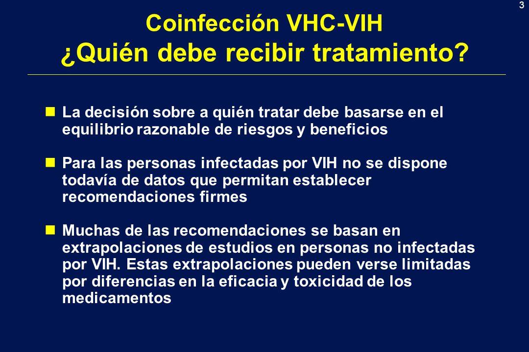 Coinfección VHC-VIH ¿Quién debe recibir tratamiento