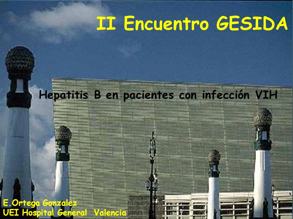 II Encuentro GESIDA Hepatitis B en pacientes con infección VIH