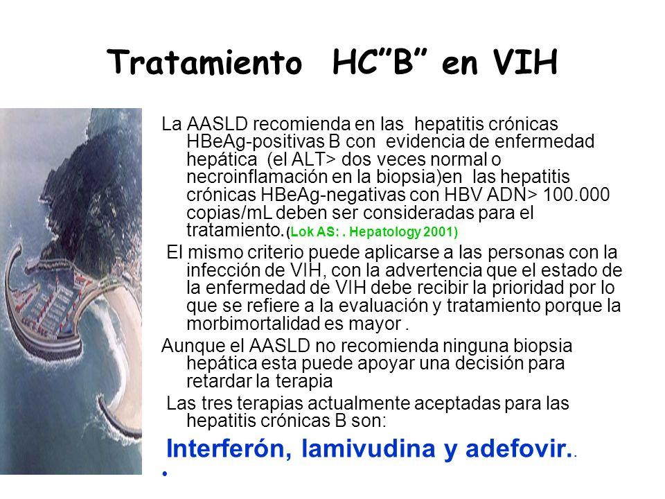 Tratamiento HC B en VIH