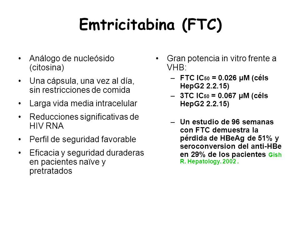 Emtricitabina (FTC) Análogo de nucleósido (citosina)