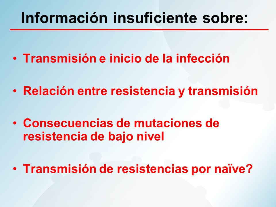 Información insuficiente sobre:
