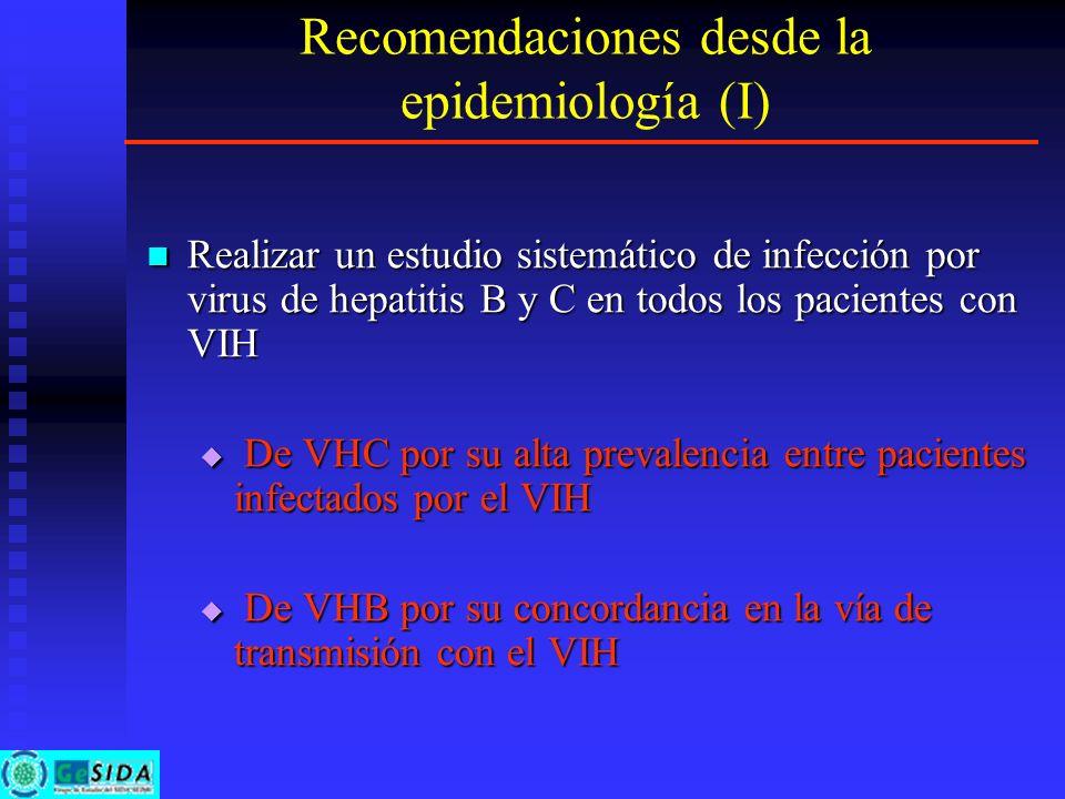 Recomendaciones desde la epidemiología (I)