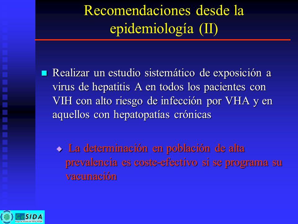 Recomendaciones desde la epidemiología (II)