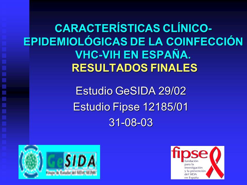 Estudio GeSIDA 29/02 Estudio Fipse 12185/01 31-08-03