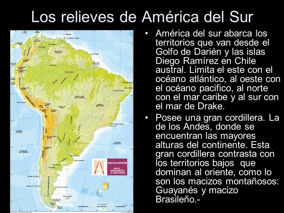 Los relieves de América del Sur