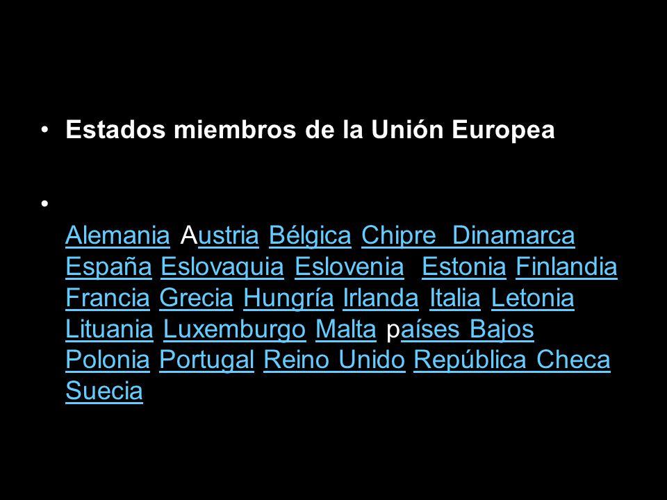 Estados miembros de la Unión Europea