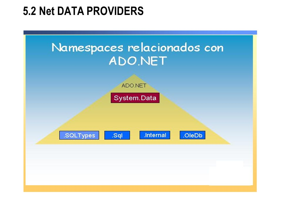 5.2 Net DATA PROVIDERS