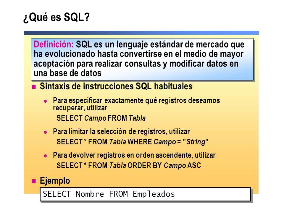 ¿Qué es SQL