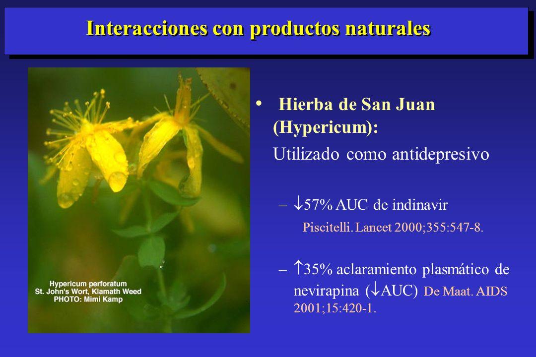 Interacciones con productos naturales