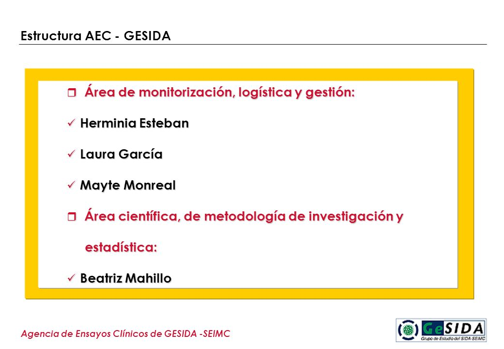 Estructura AEC - GESIDA