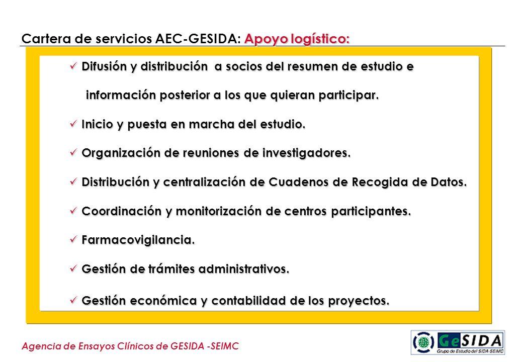 Cartera de servicios AEC-GESIDA: Apoyo logístico: