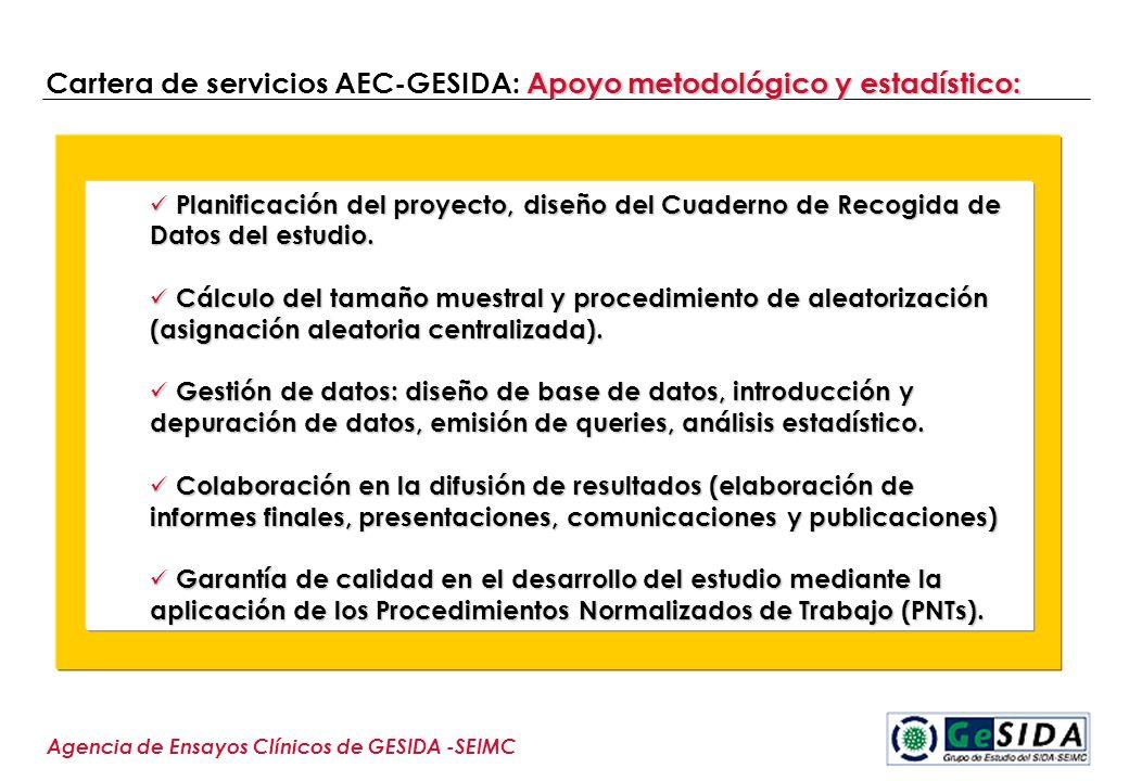 Cartera de servicios AEC-GESIDA: Apoyo metodológico y estadístico: