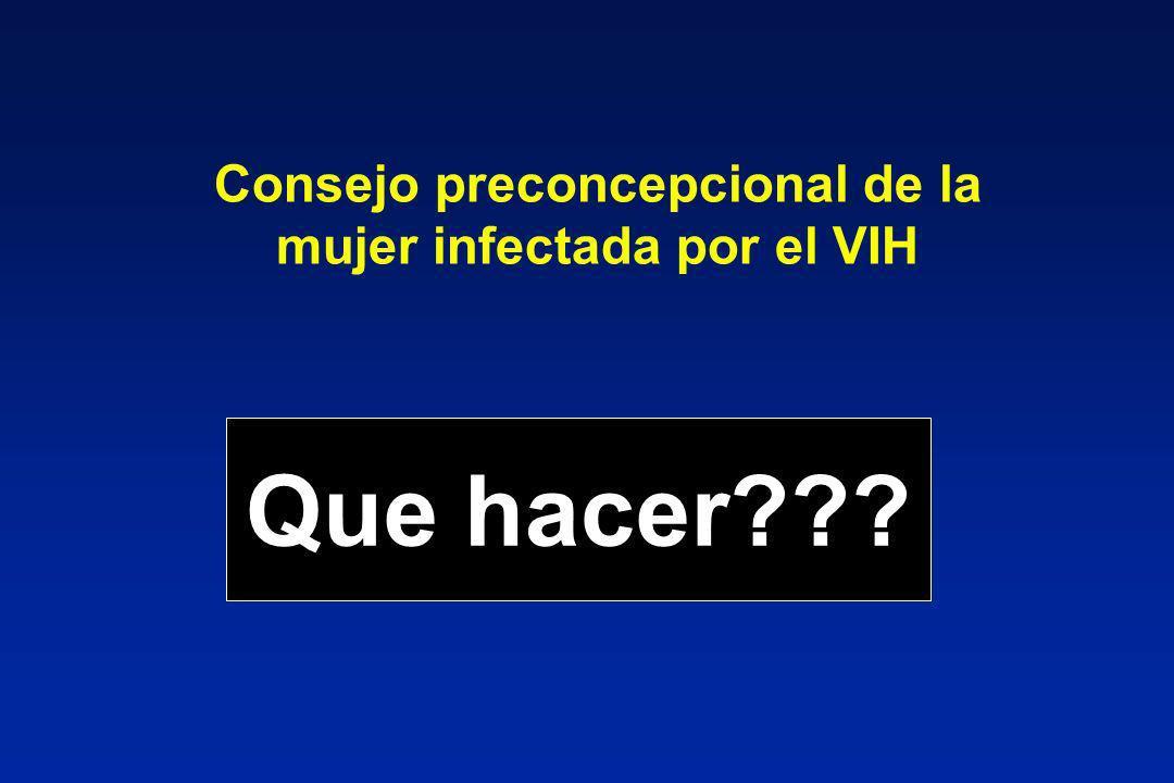Consejo preconcepcional de la mujer infectada por el VIH
