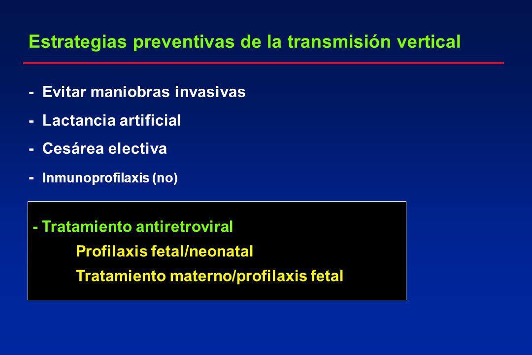Estrategias preventivas de la transmisión vertical