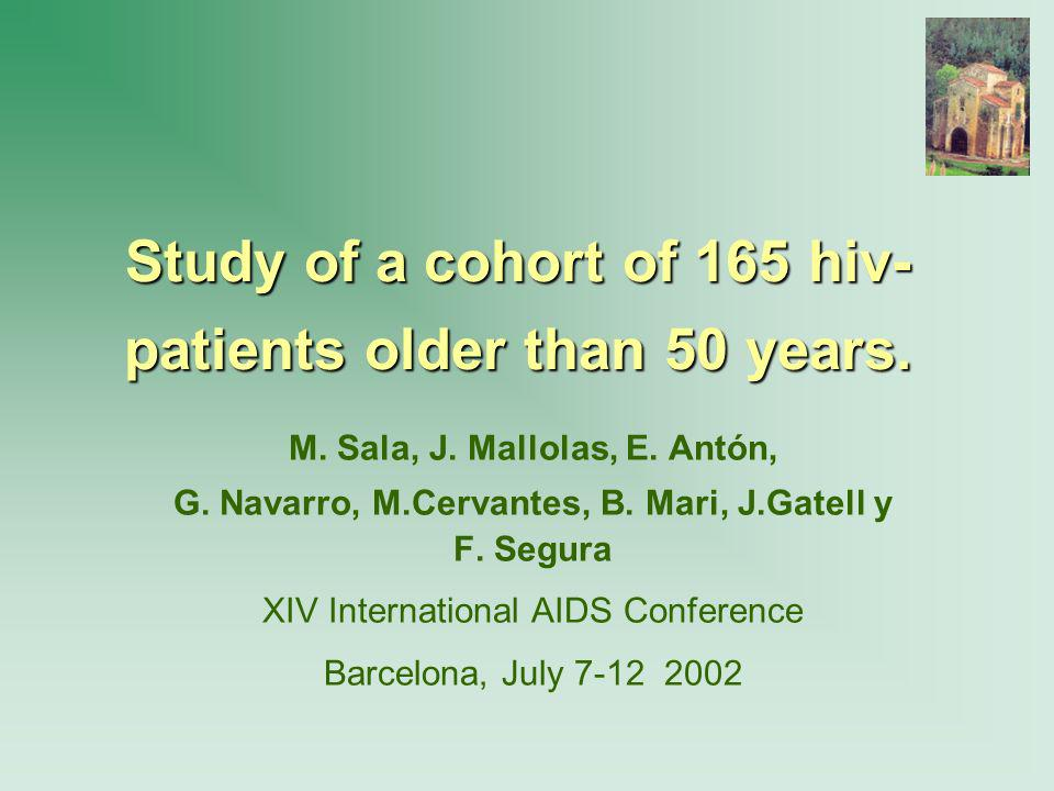 Study of a cohort of 165 hiv-patients older than 50 years.
