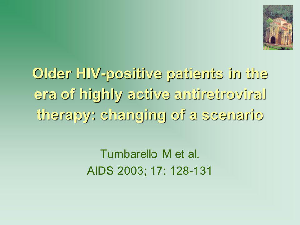 Tumbarello M et al. AIDS 2003; 17: 128-131