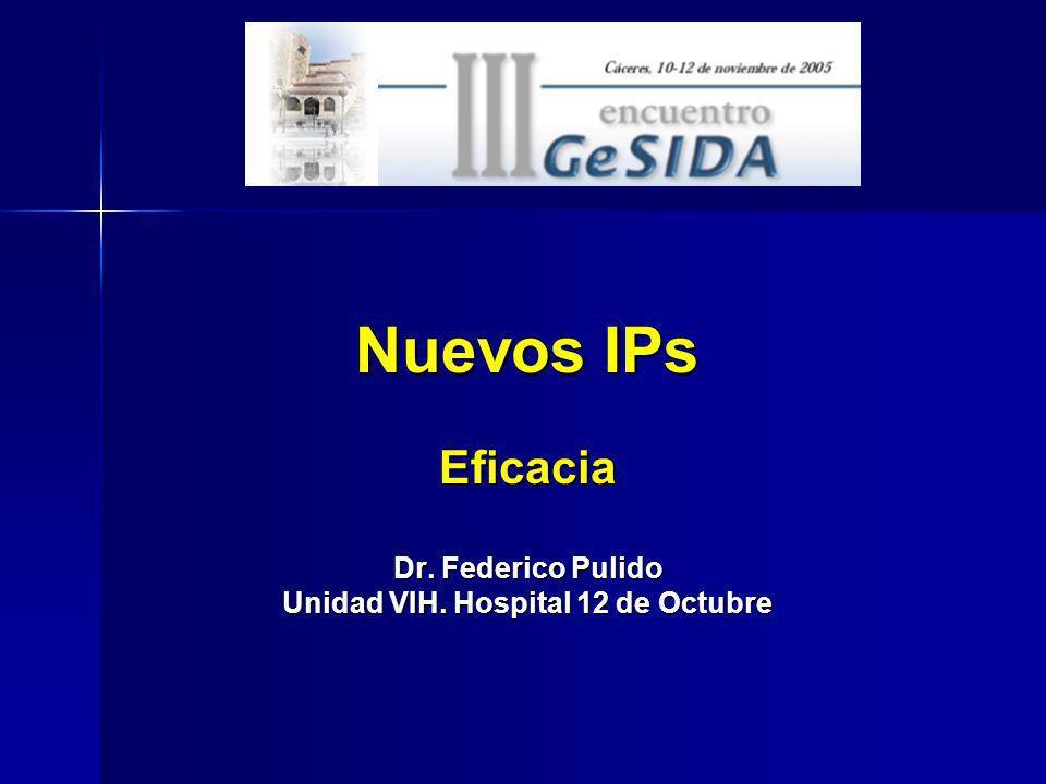 Eficacia Dr. Federico Pulido Unidad VIH. Hospital 12 de Octubre