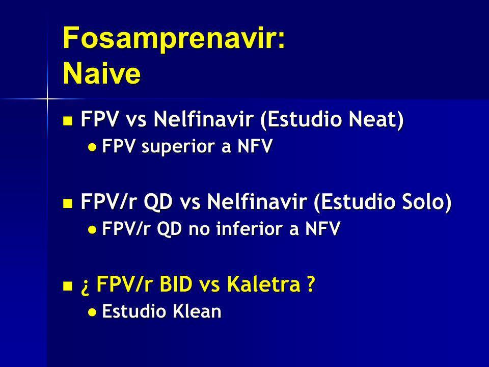 Fosamprenavir: Naive FPV vs Nelfinavir (Estudio Neat)