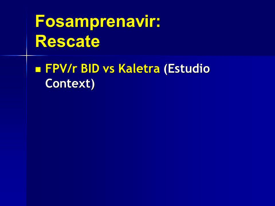 Fosamprenavir: Rescate