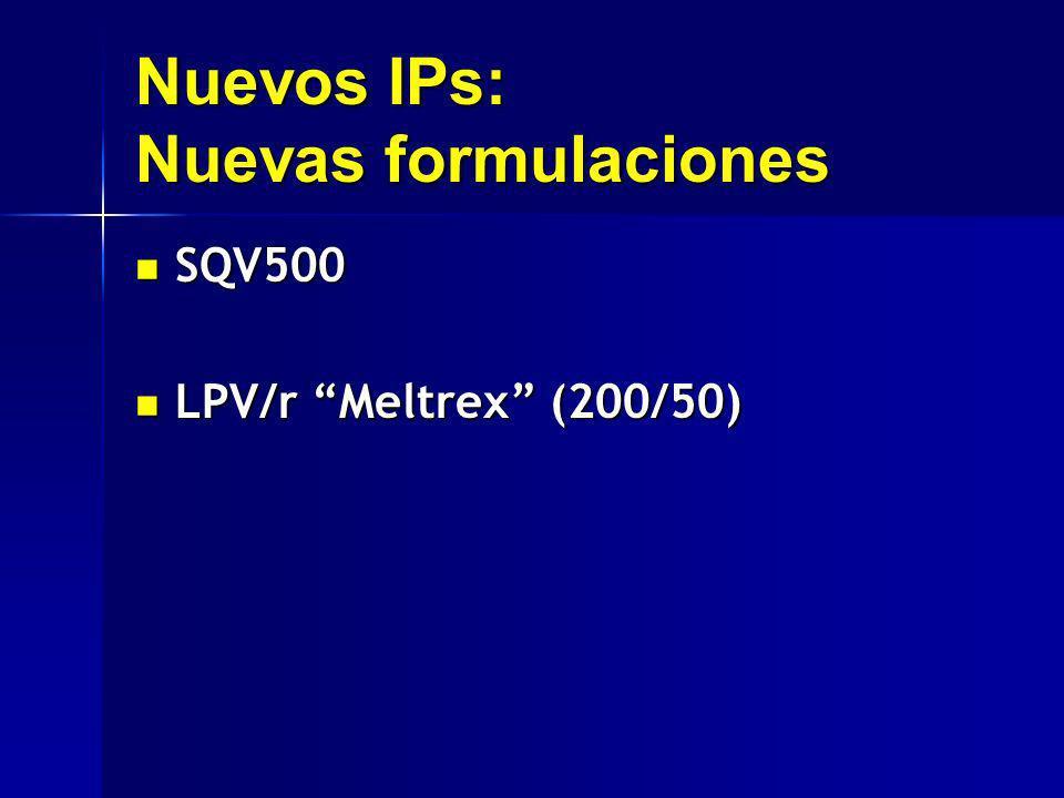 Nuevos IPs: Nuevas formulaciones