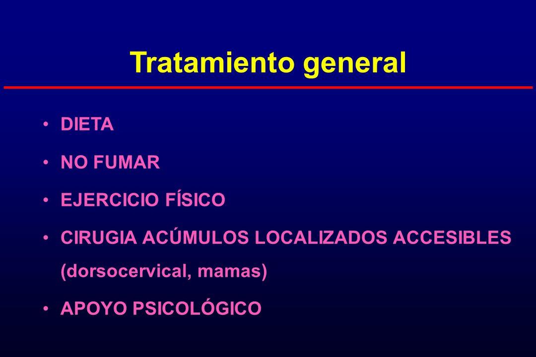 Tratamiento general DIETA NO FUMAR EJERCICIO FÍSICO