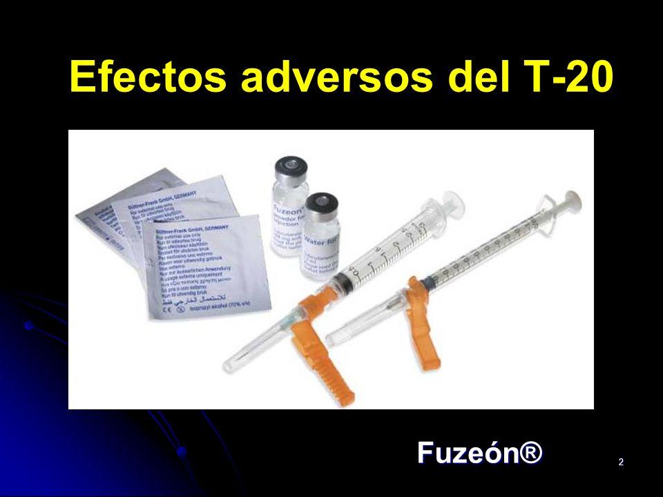 Efectos adversos del T-20