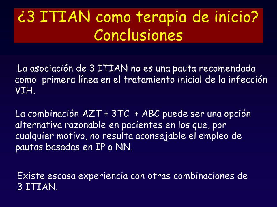 ¿3 ITIAN como terapia de inicio Conclusiones