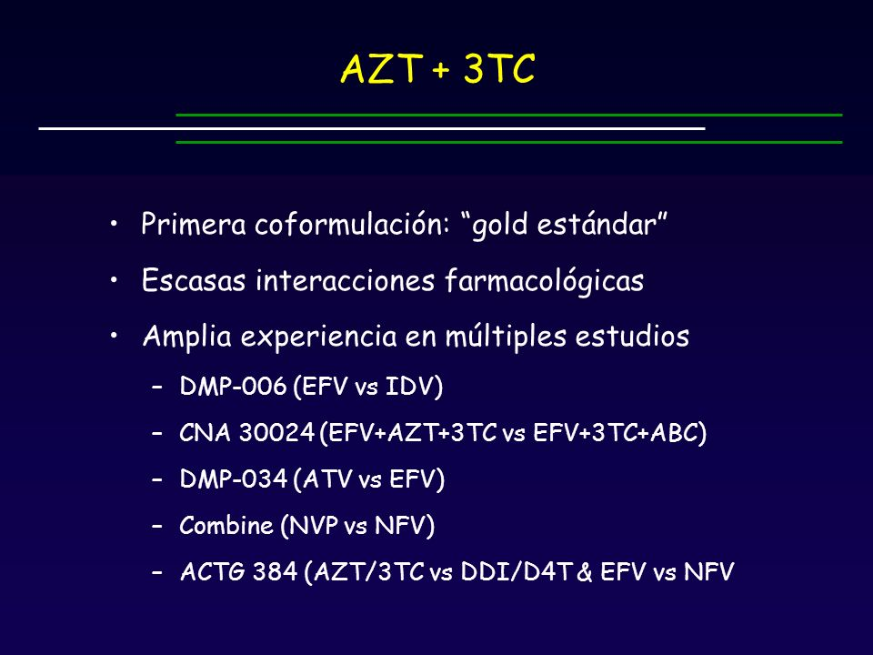 AZT + 3TC Primera coformulación: gold estándar