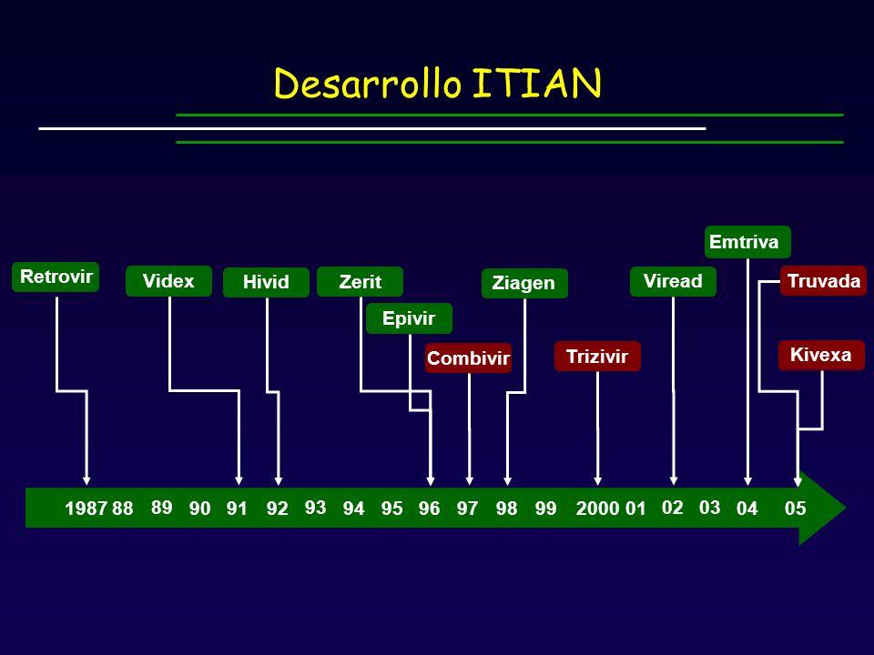 Desarrollo ITIAN 1987 91 92 94 95 96 97 98 99 2000 88 90 Ziagen