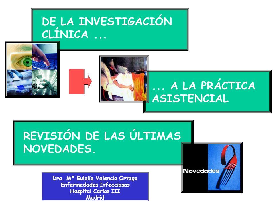 Dra. Mª Eulalia Valencia Ortega Enfermedades Infecciosas