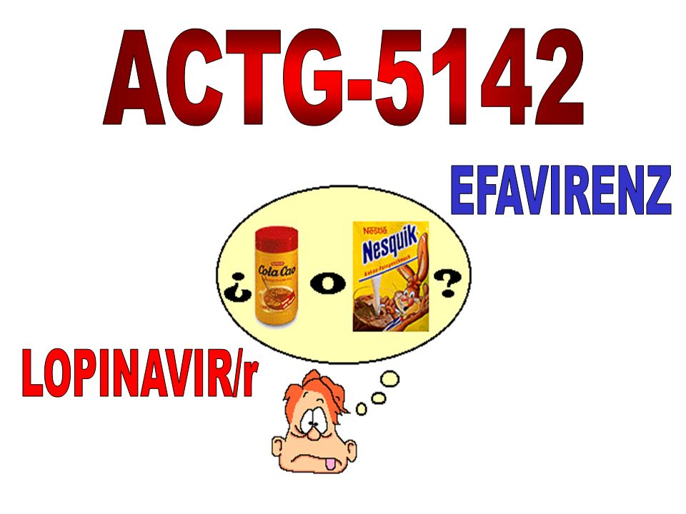 ACTG-5142 EFAVIRENZ LOPINAVIR/r