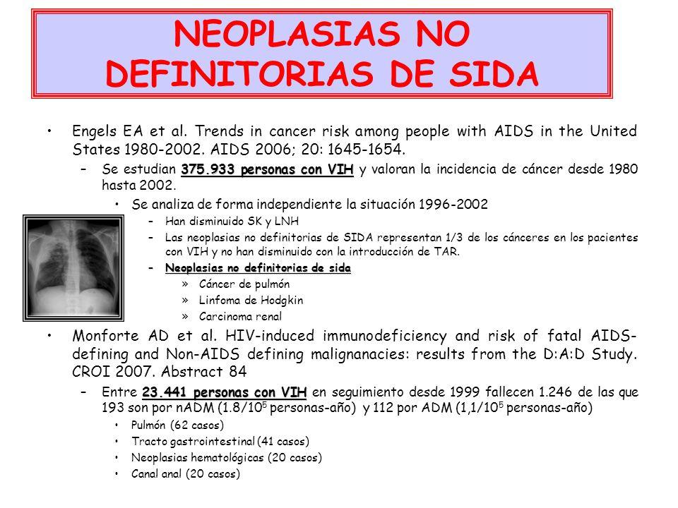 NEOPLASIAS NO DEFINITORIAS DE SIDA