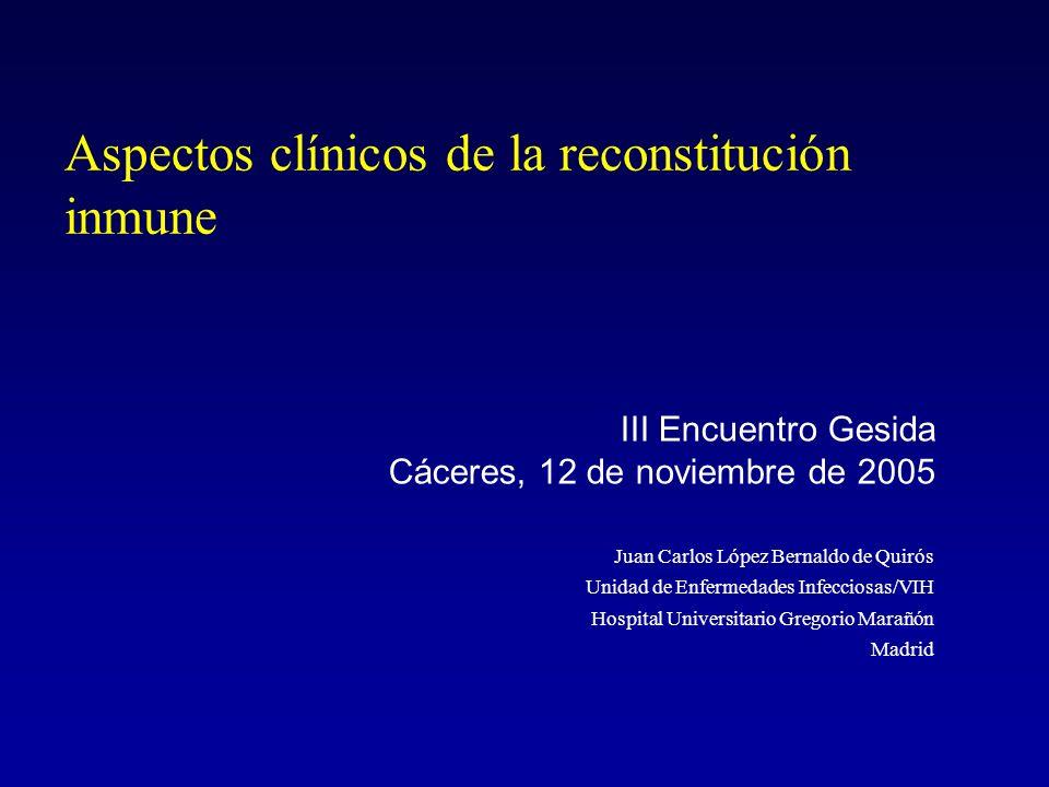 Aspectos clínicos de la reconstitución inmune