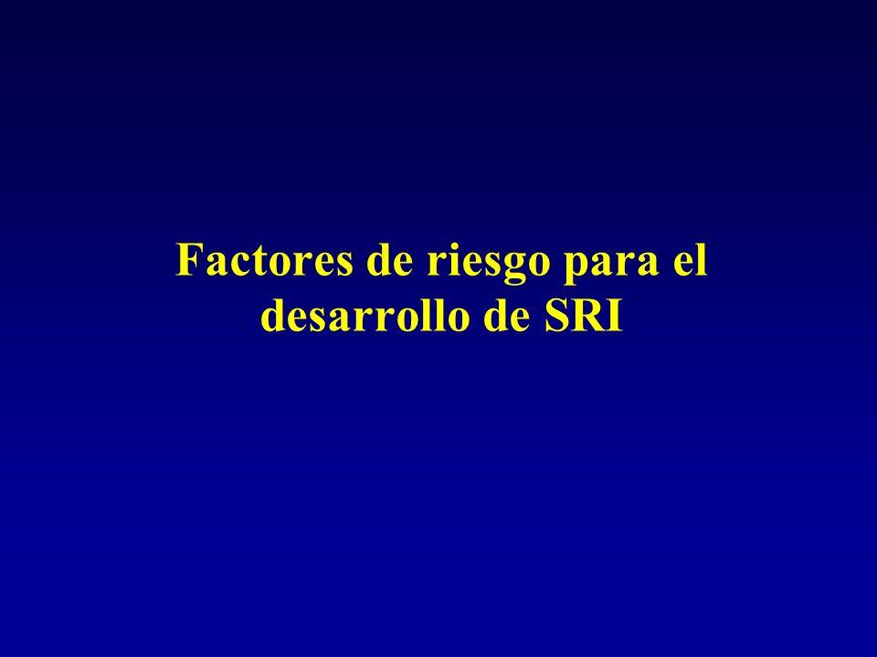 Factores de riesgo para el desarrollo de SRI