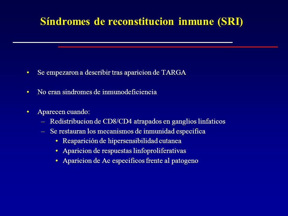 Síndromes de reconstitucion inmune (SRI)