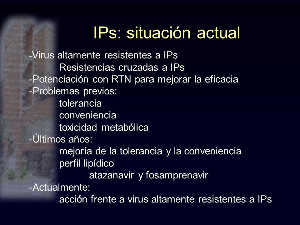 IPs: situación actual Resistencias cruzadas a IPs